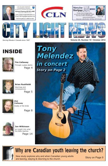 Tony Melendez - City Light News