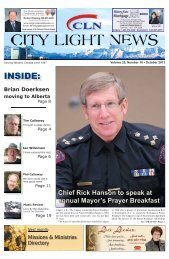 INSIDE: - City Light News