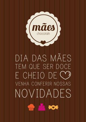 MENU DIA DAS MÃES   CHOCOLAH