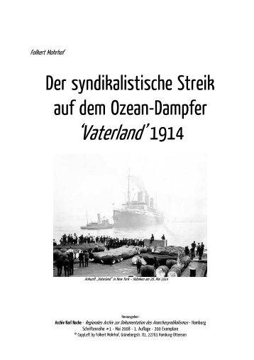 Der syndikalistische Streik auf dem Ozean-Dampfer 'Vaterland' 1914