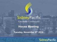 Presentation - Sidney Pacific Graduate Community