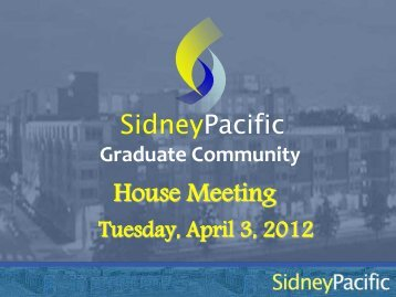 Presentation - Sidney Pacific Graduate Community - MIT