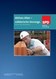 Aktives Alter – solidarische Vorsorge. - SPD-Ortsverein Langwedel ...