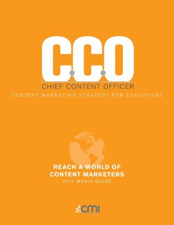 Reach a WoRld of content MaRketeRs - Content Marketing Institute