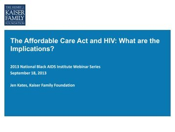The Affordable Care Act and HIV: What are the Implications?