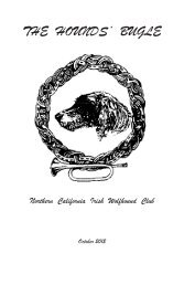 October 2012 Bugle - Northern California Irish Wolfhound Club