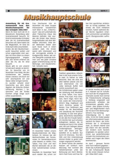 Gemeindeforum 1/06 (0 bytes) - Marktgemeinde Gramatneusiedl