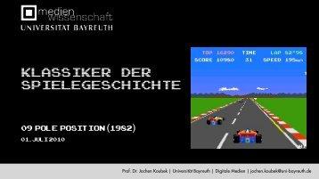3 Water racing games - Medienwissenschaft Universität Bayreuth