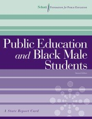 Public Education and Black Male Students: A State Report Card