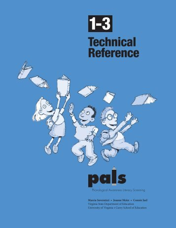 PALS Technical Reference for Grades 1-3 (2004) - Data Center