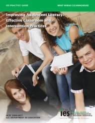 Effective Classroom and Intervention Practices - Clemson University