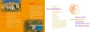 Wandeln im Jahreskreis (Flyer) - Brigitte Noll Roesch