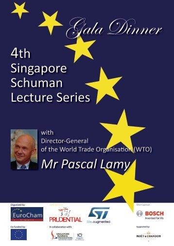 4th Singapore Schuman Lecture Series Mr Pascal Lamy - British ...