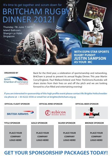get your sponsorship packages today! - British Chamber of ...