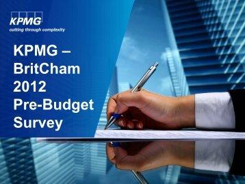 KPMG – BritCham 2012 Pre-Budget Survey