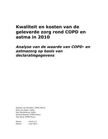 Kwaliteit en kosten van de geleverde zorg rond COPD en ... - LVG