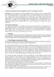 Notulen ALV 11 mei 2012 - Nederlandse Labrador Vereniging
