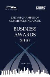 BUSINESS AWARDS 2010 - British Chamber of Commerce Singapore