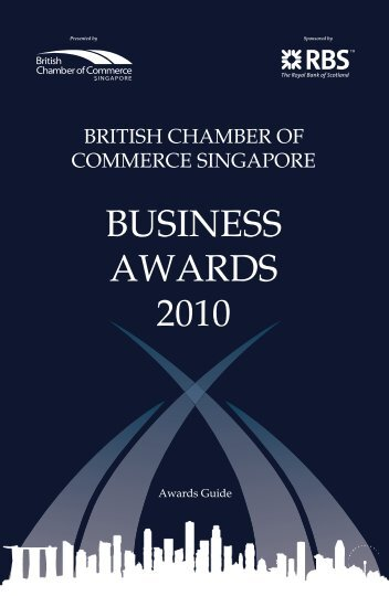 BUSINESS AWARDS 2010 - British Chamber of Commerce Singapore