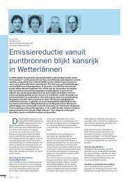 emissiereductie vanuit puntbronnen blijkt kansrijk in ... - Tauw