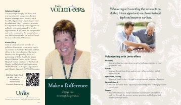 Volunteering with Unity