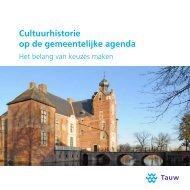 Cultuurhistorie op de gemeentelijke agenda - Tauw