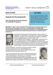 Serie Profile Experte für Kurventechnik - Nolte-NC-Kurventechnik.de