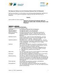 Versie 14-11-2012, inspraakversie 1 Het Algemeen ... - De Biesbosch