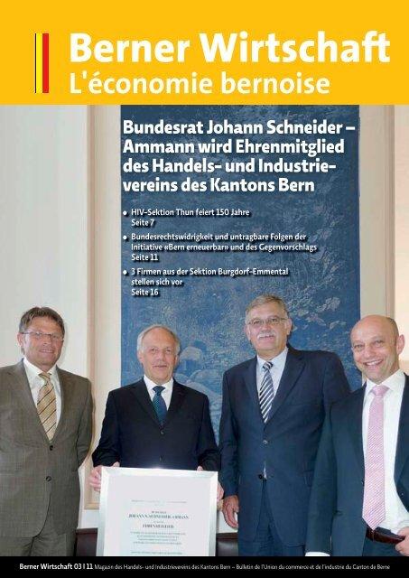 Magazin Berner Wirtschaft 03/2011 - Handels- und Industrieverein ...