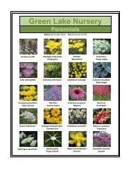Green Lake Nursery Perennials