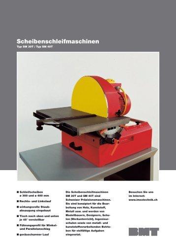 Scheibenschleifmaschinen - Imex Technik AG