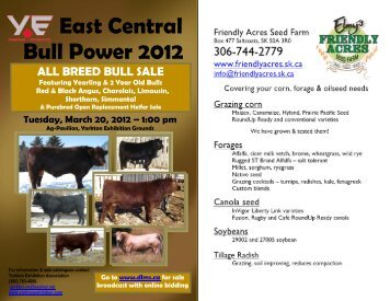 East Central Bull Power Sale Catalogue - Cattlevids.ca
