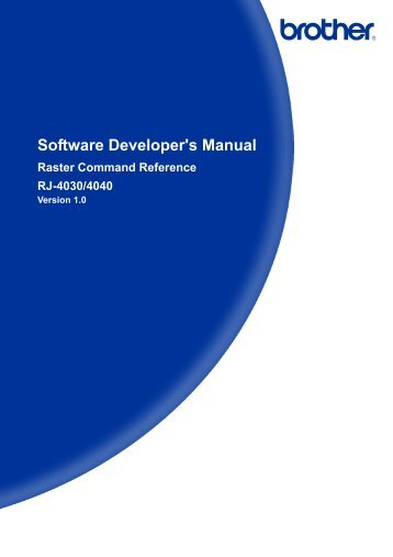 Software Developer's Manual Raster Command Reference RJ-4030 ...
