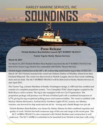 April - Harley Marine Services, Inc.