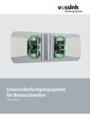 Datenblatt System W 41 - Vossloh auf der InnoTrans