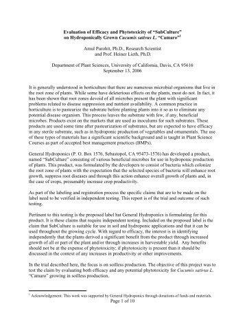 Page 1 of 10 Evaluation of Efficacy and Phytotoxicity ... - Heiner Lieth