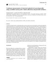 Continuous measurements of electrical conductivity in growing ...