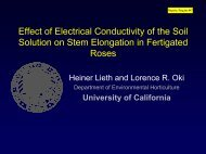 Effect of Electrical Conductivity of the Soil Solution on ... - Heiner Lieth