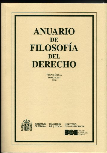 reseña en el anuario de filosofía - Plaza y Valdés Editores