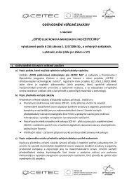 odůvodněníveřejné zakázky - E-ZAK MUNI - Masarykova univerzita