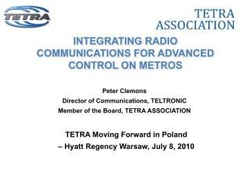 integrating radio communications for advanced control on ... - Tetra