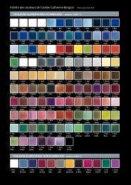 Palette des couleurs de l' atelier Catherine Bergoin Mise à jour mai ...