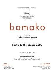 Sortie le 18 octobre 2006 - Les Films du Losange
