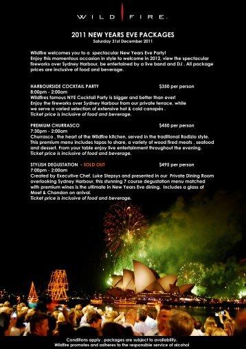 2011 Wildfire NYE info