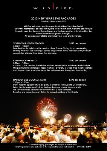 to download our pdf on NYE packages - Wildfire