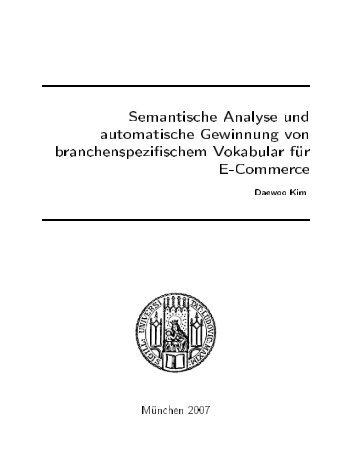 Semantische Analyse und automatische Gewinnung von - (CIS) an der