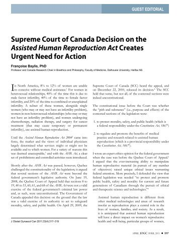 Supreme Court of Canada Decision on the ... - Novel Tech Ethics