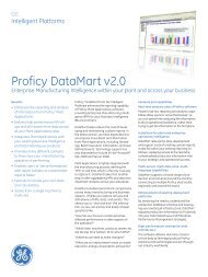 Proficy DataMart v2.0 - b+i automation