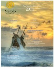 New Years Eve Celebrations - Malolo Island Resort
