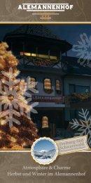 Festliche Gemütlichkeit im Herbst und Winter - Alemannenhof